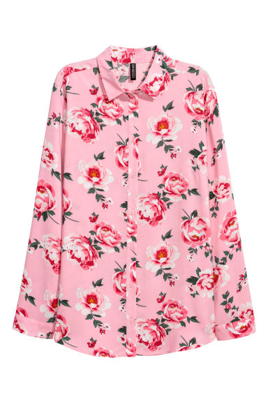 Viscose shirt - Pink/Floral -  | H&M GB