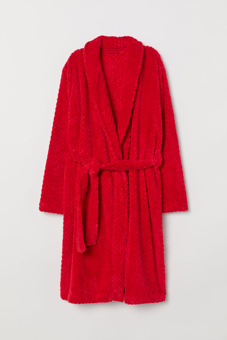 Pile dressing gown - Red - Ladies | H&M
