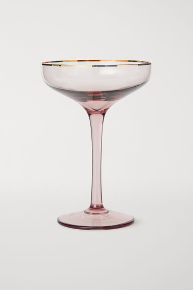 Champagne Glass - Dusky pink - Home All | H&M CA