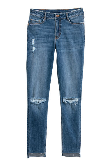 Skinny Regular Ankle Jeans - 浅牛仔蓝 -  | H&M CN