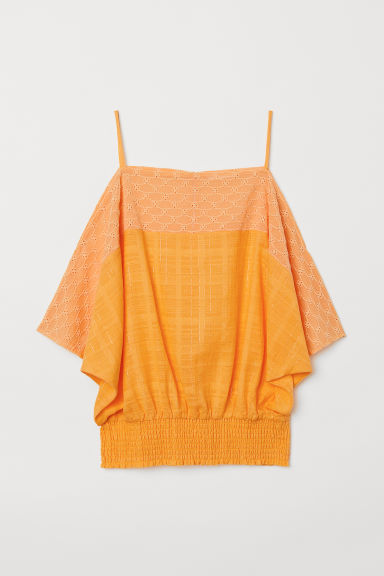 Cold shoulder top - Dark yellow - Ladies | H&M