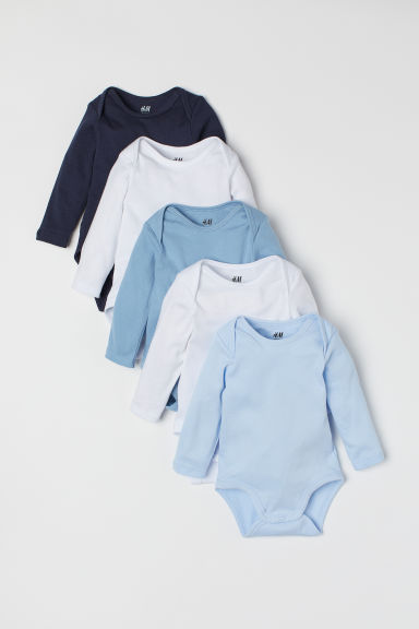 5er-Pack Bodys - Blau/Weiß - Kids | H&M AT