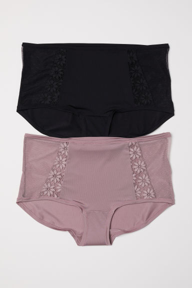 2-pack shortie briefs - Heather/Black - Ladies | H&M CN