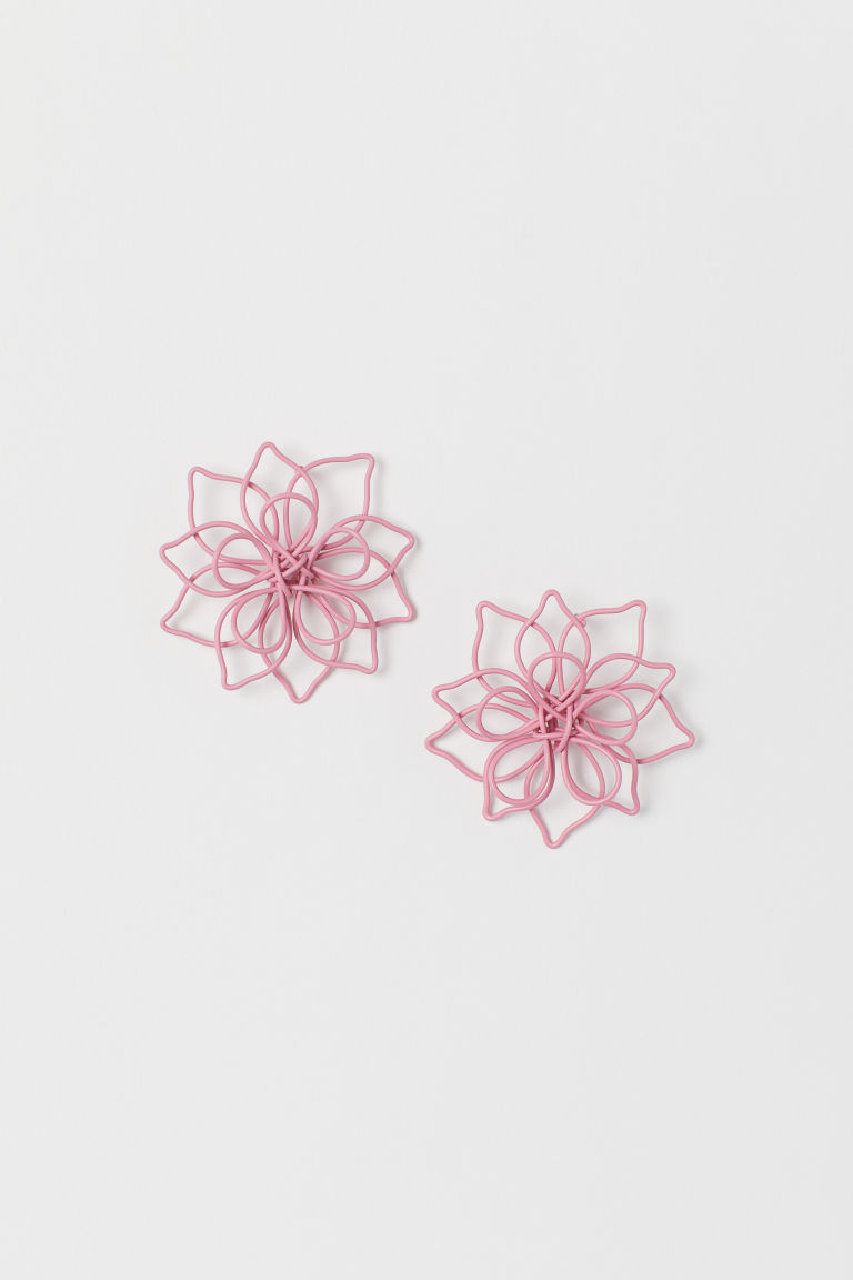 Flower-shaped earrings - Pink - Ladies | H&M CN