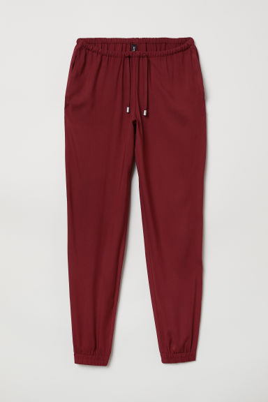 Pull-on trousers - Burgundy - Ladies | H&M