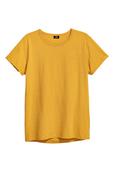 Slub Jersey T-shirt - Mustard yellow - Men | H&M US