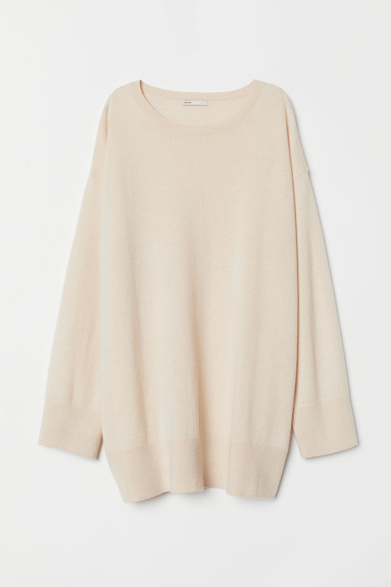 Oversized cashmere jumper - Cream - Ladies | H&M
