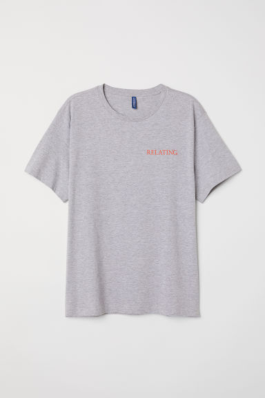 Printed T-shirt - Grey marl -  | H&M