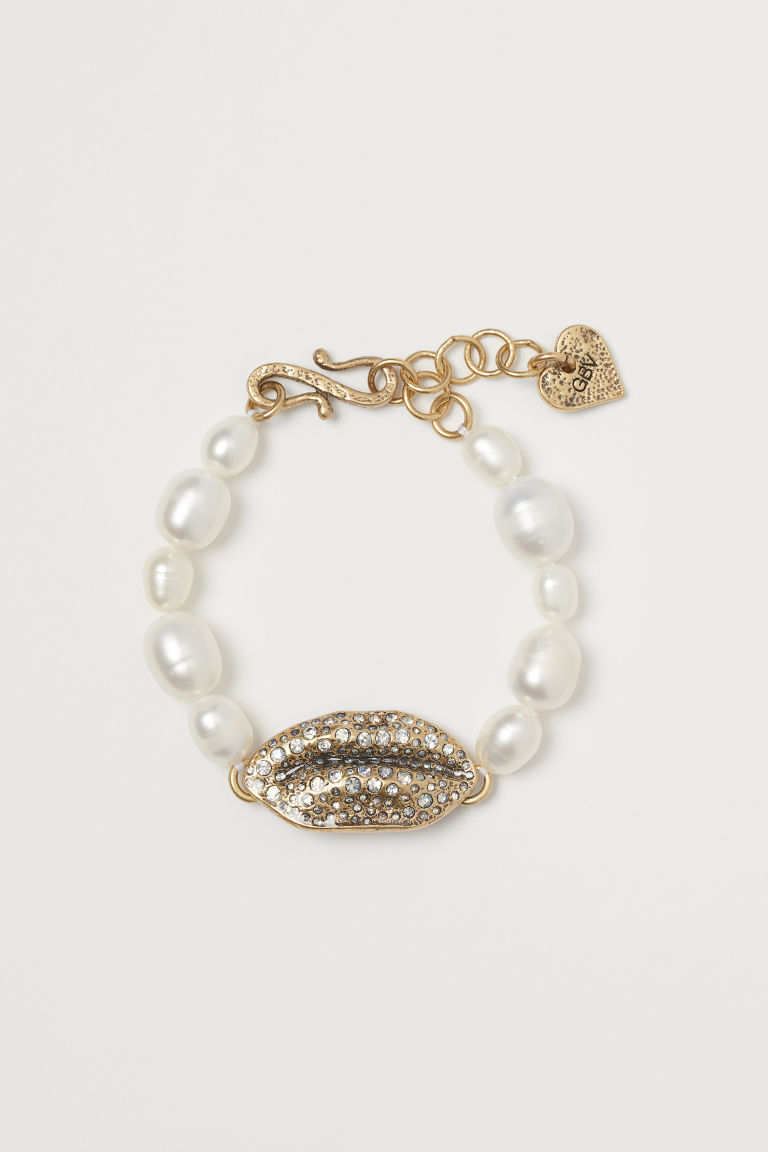 Bracelet with pearls - Gold-coloured - Ladies | H&M GB
