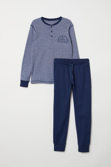 Jersey pyjamas - Dark blue - Kids | H&M CN