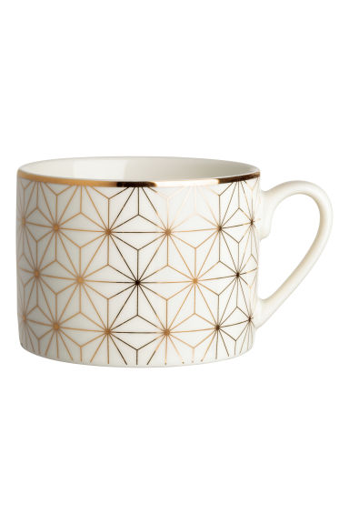 Porcelain mug - White/Patterned - Home All | H&M IE