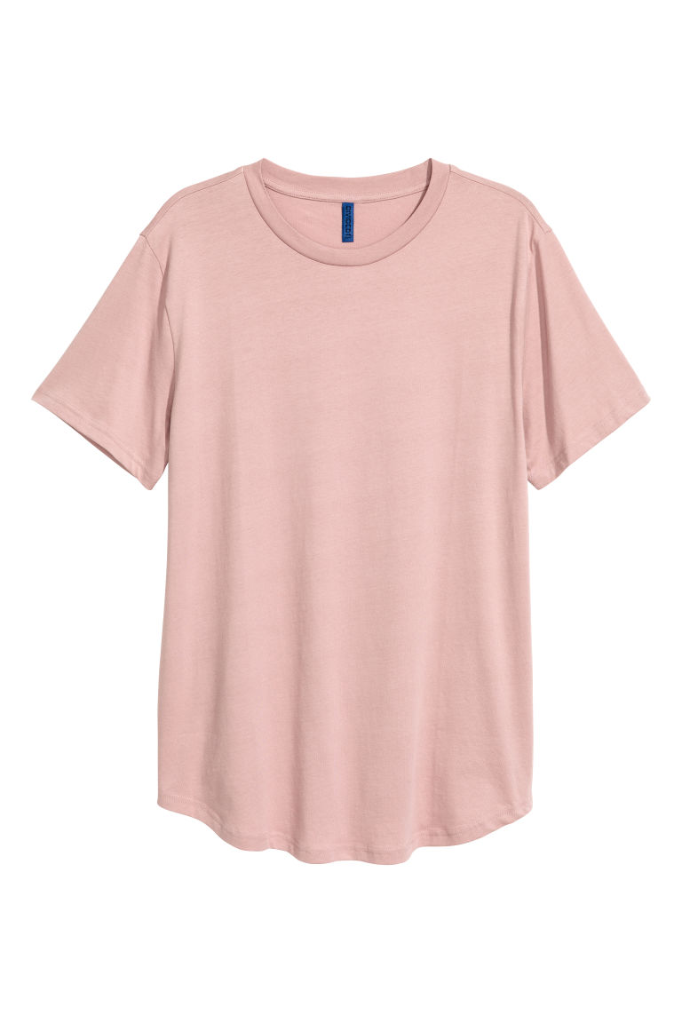 Cotton T-shirt - Dusky pink - Men | H&M