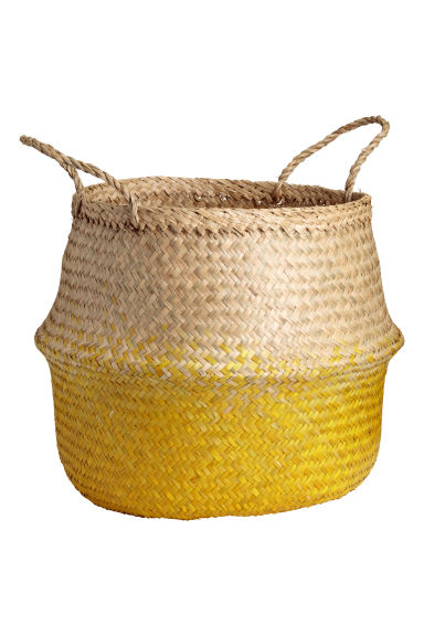 Seagrass storage basket - Yellow - Home All | H&M CN