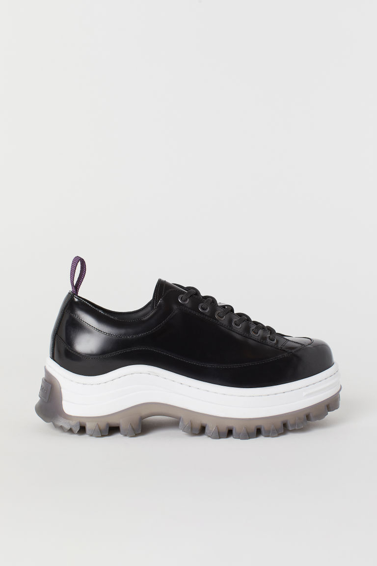 Leather Sneakers - Black - Men | H&M US