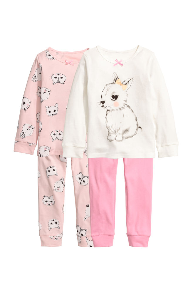 1471e85433 2-pack Jersey Sets - Light pink animal - Kids