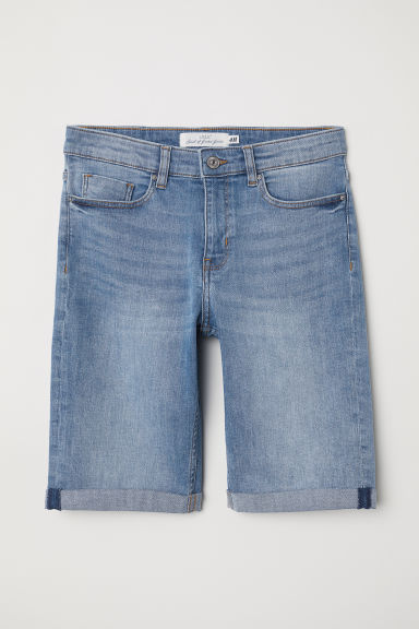 Knee-length denim shorts - Denim blue - Ladies | H&M CN