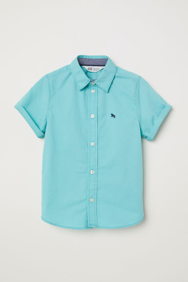 Short-sleeved shirt - Turquoise - Kids | H&M CN