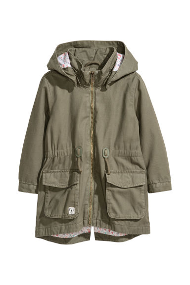 Parka with appliqués - Khaki green - Kids | H&M