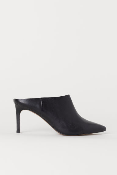 Leather mules - Black - Ladies | H&M