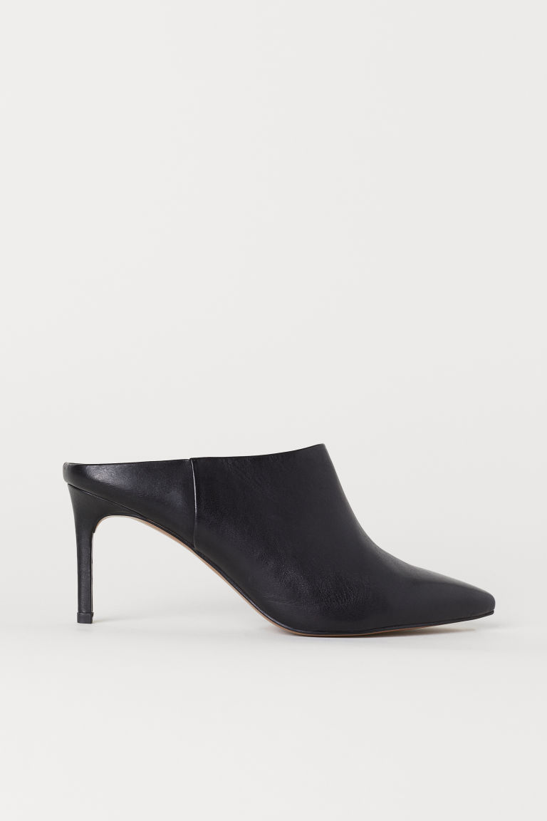Leather mules - Black - Ladies | H&M GB