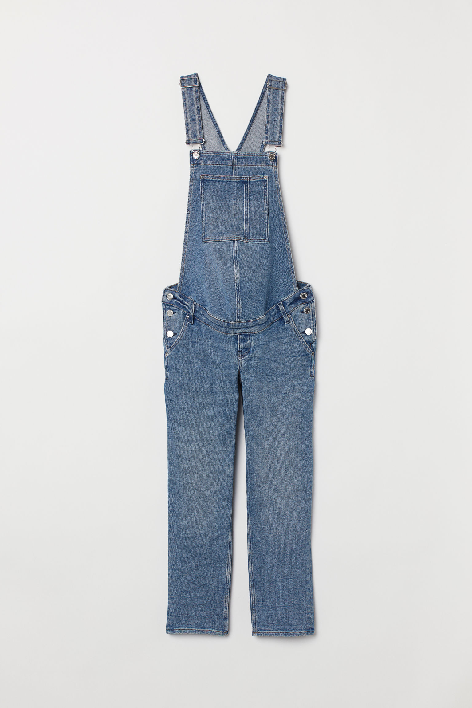 1694e30f9eb17 MAMA Denim Bib Overalls - Denim blue - Ladies