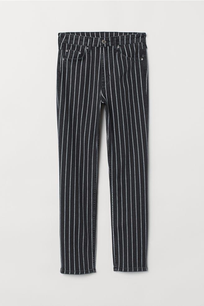 fc40df8f439 Vintage Slim Ankle Jeans - Black white striped - Ladies