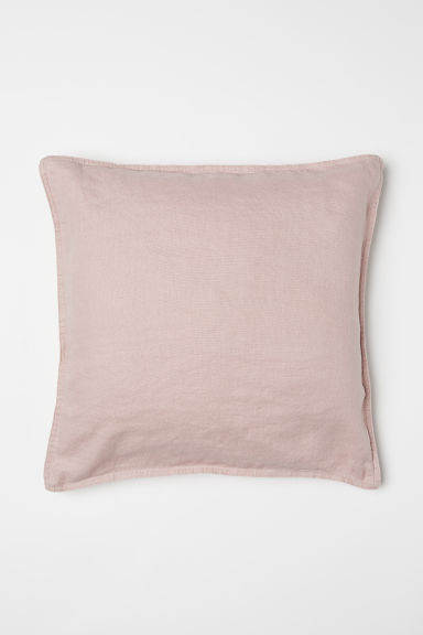 Washed linen cushion cover - Old rose - Home All | H&M CN