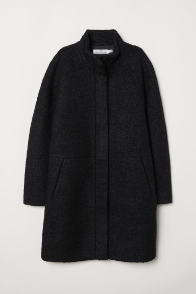 Cappotto con collo alto - Nero - DONNA | H&M IT