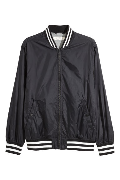 Nylon baseball jacket - Black - Men | H&M