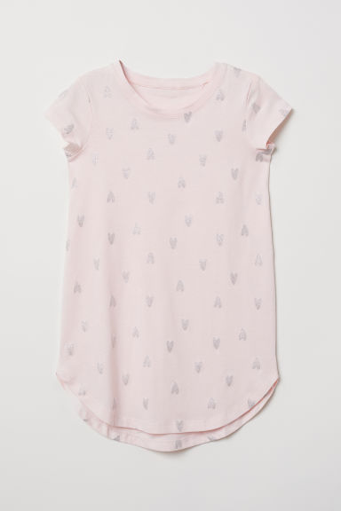 Glitter-patterned nightdress - Light pink/Hearts - Kids | H&M CN