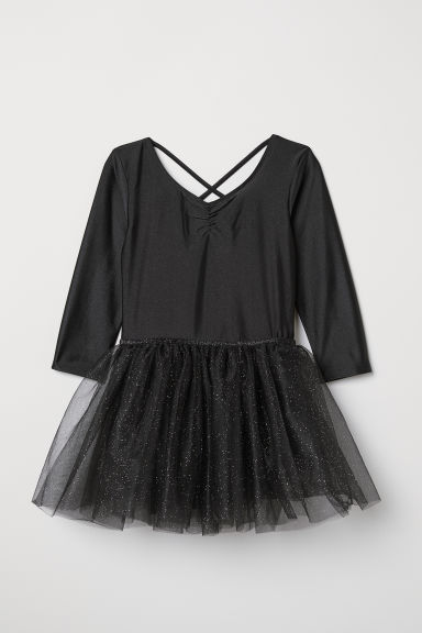 Dance leotard with tulle skirt - Black - Kids | H&M