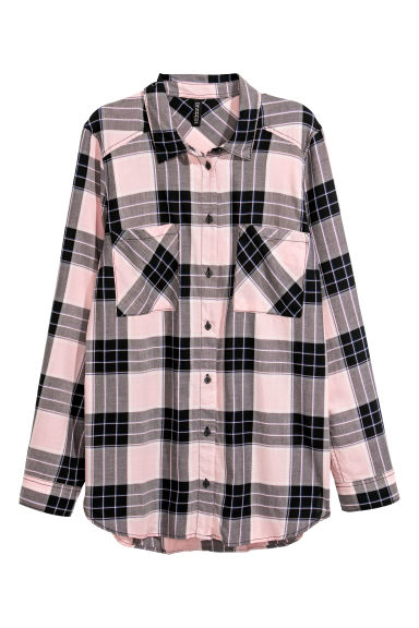 Checked shirt - Light pink/Checked -  | H&M