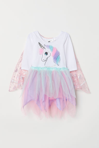 Tulle dress - White/My Little Pony - Kids | H&M