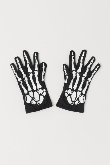 Fancy dress gloves - Black/Skeleton - Kids | H&M