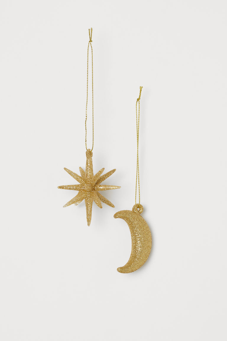 2-pack Christmas Ornaments - Gold-colored - Home All | H&M US