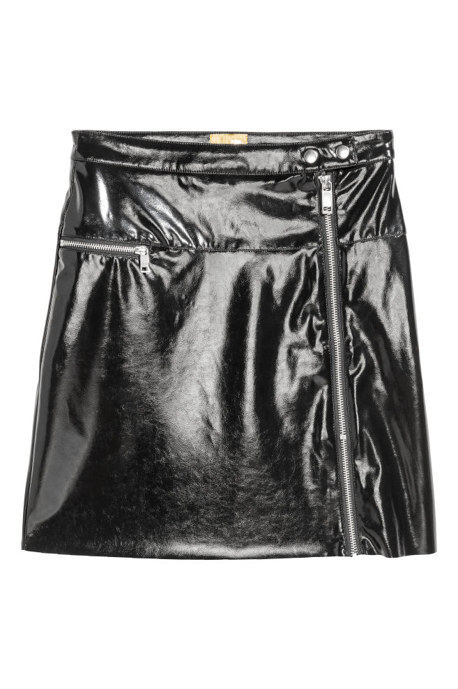 e47f13346853d Short patent skirt - Black - Ladies