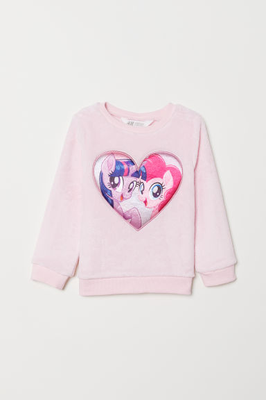 Pile top - Light pink/My Little Pony - Kids | H&M