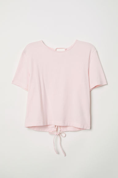 Top with lacing - Light pink - Ladies | H&M