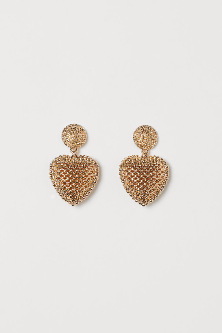 Heart-shaped Earrings - Gold-colored - Ladies | H&M CA