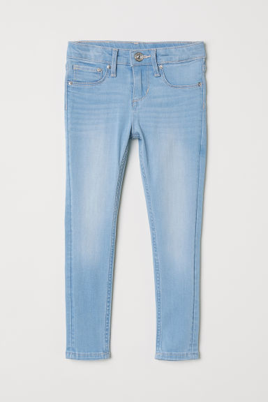 Skinny Fit Satin Jeans - Light denim blue -  | H&M CN
