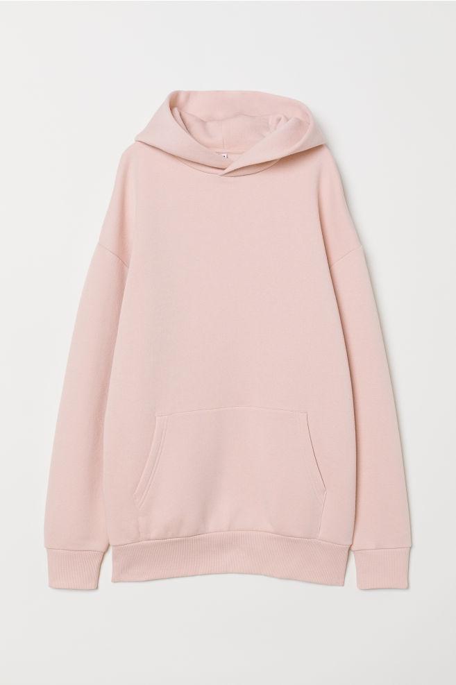 353677aa74 Oversized Hooded Sweatshirt - Powder pink -   H&M ...