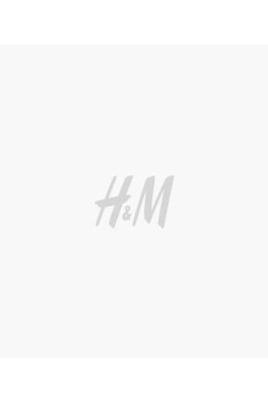 Faux fur cushion cover - White/Light brown -  | H&M CN