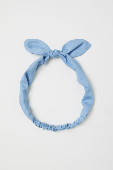 Hairband with a bow - Light blue - Kids | H&M CN