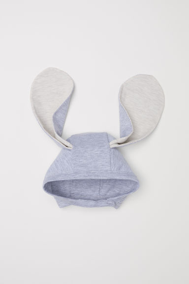 Jersey hat with ears - Light grey marl -  | H&M