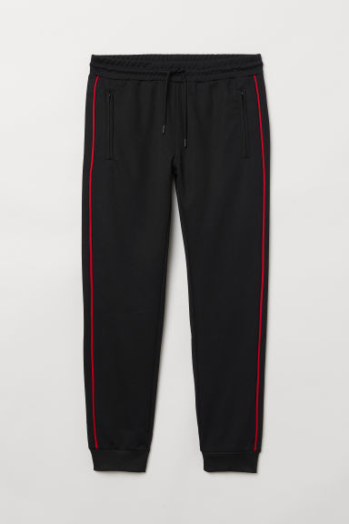 Sports trousers - Black/Red - Men | H&M