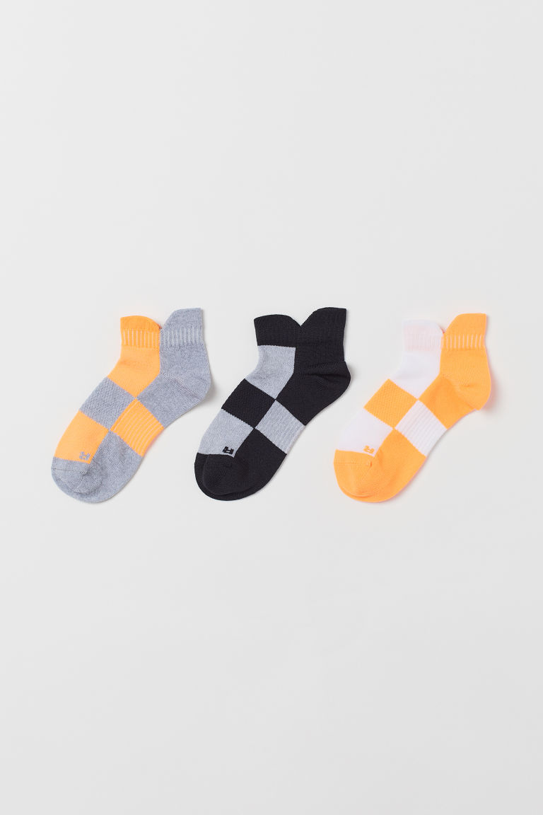 3-pack sportssokker - Orange/Flerfarget - BARN | H&M NO