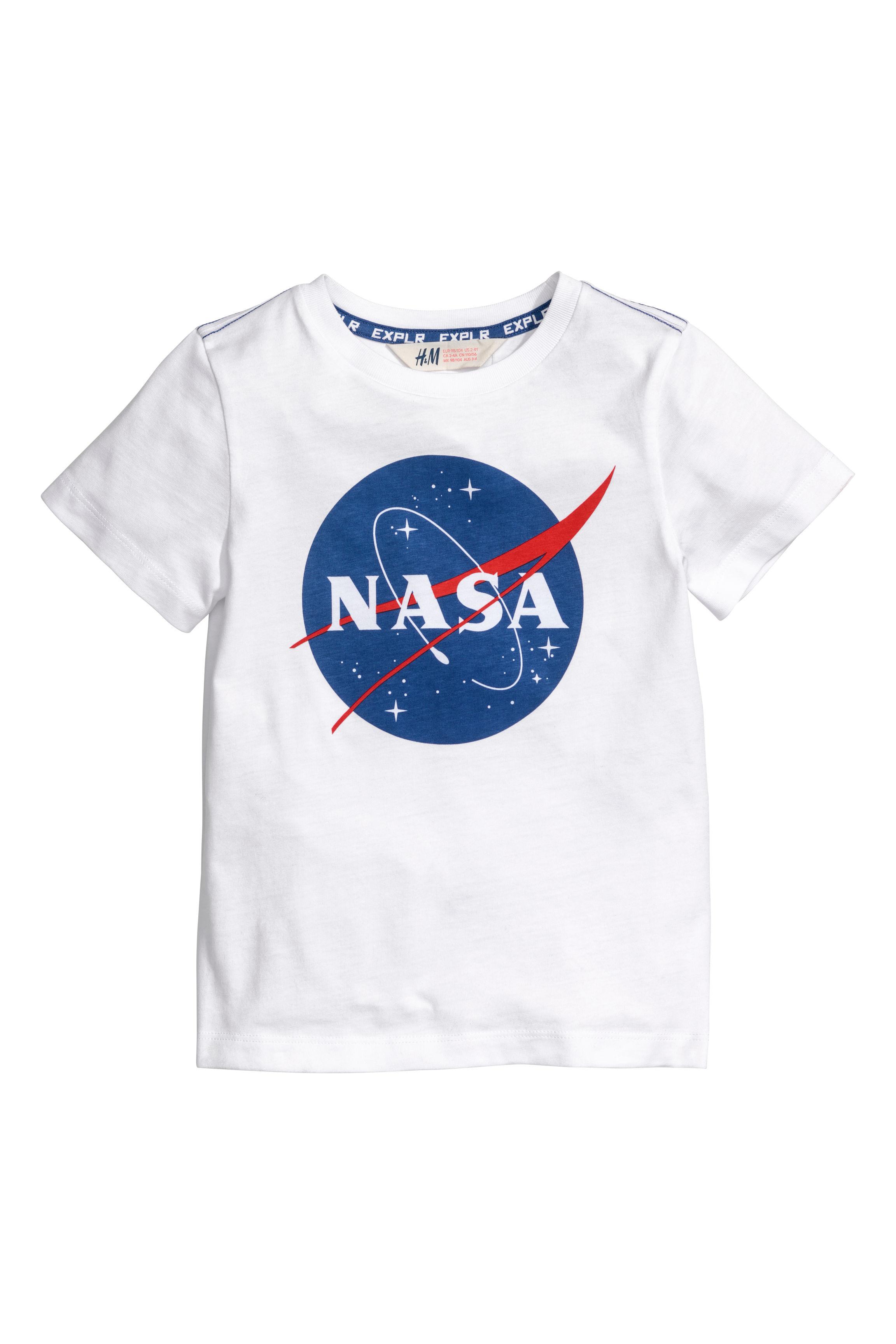c1aa638269 Nyomott mintás póló - Fehér/NASA - GYEREK | H&M HU