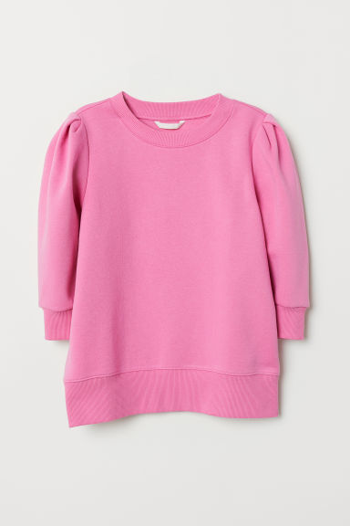 Sweater met pofmouwen - Roze - DAMES | H&M BE