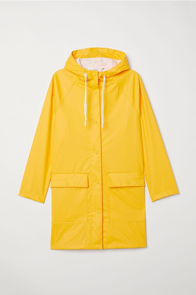 551fd60eef769 Bunda do dažďa s kapucňou - žltá - ŽENY | H&M ...