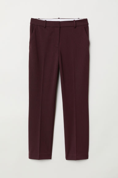 Cigarette trousers - Burgundy - Ladies | H&M
